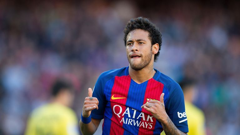 Neymar signed a five-year deal with Barcelona in October