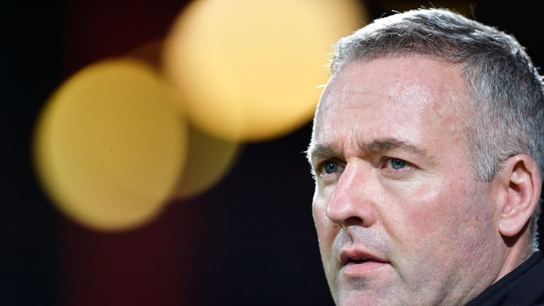 Paul Lambert during the Sky Bet Championship match between Brentford and Wolverhampton Wanderers on March 14, 2017