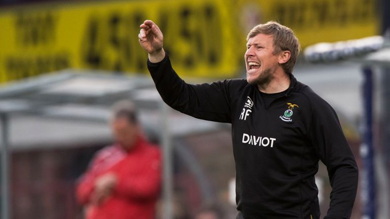 Richie Foran on the touchline.