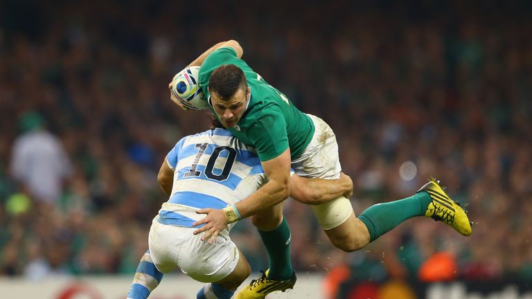 Robbie Henshaw and Ireland were knocked out of the 2015 World Cup by Argentina in the last meeting between the teams