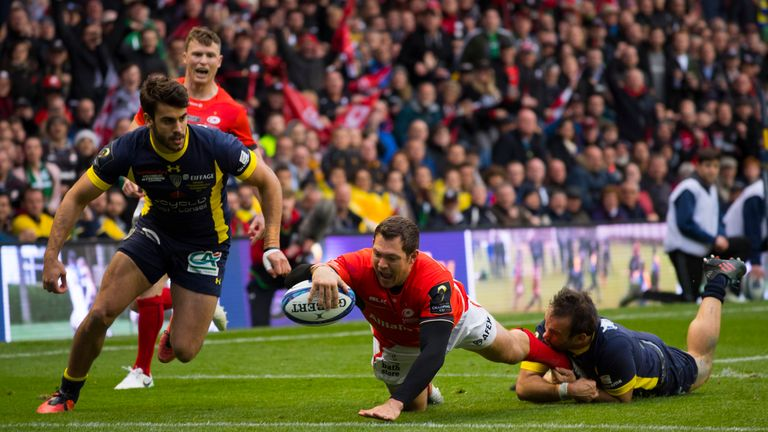 Alex Goode scored the decisive try against Clermont at Murrayfield
