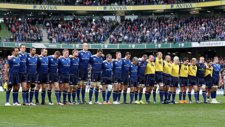 Leinster's players and supporters held a minute's silence at the Aviva after the death of Triggs' daughter