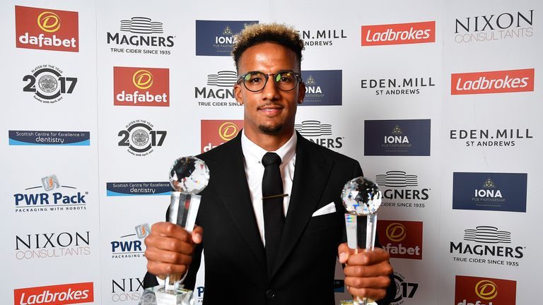 Celtic's Scott Sinclair wins both the Player of the Year and Player's Player of the Year awards.