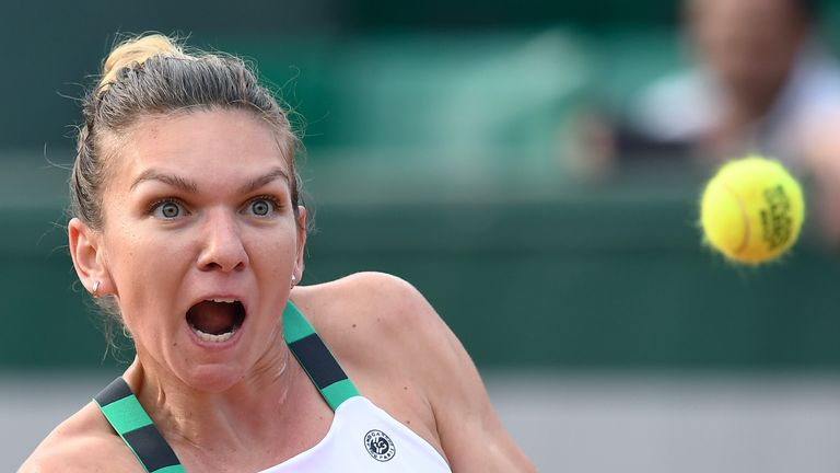 Simona Halep has eased her injury concerns ahead of the French Open final