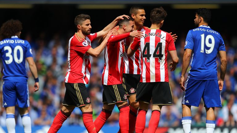 Javier Manquillo scored Sunderland's opening goal against Chelsea after just three minutes on the last day of the season but ended up losing the game 5-1