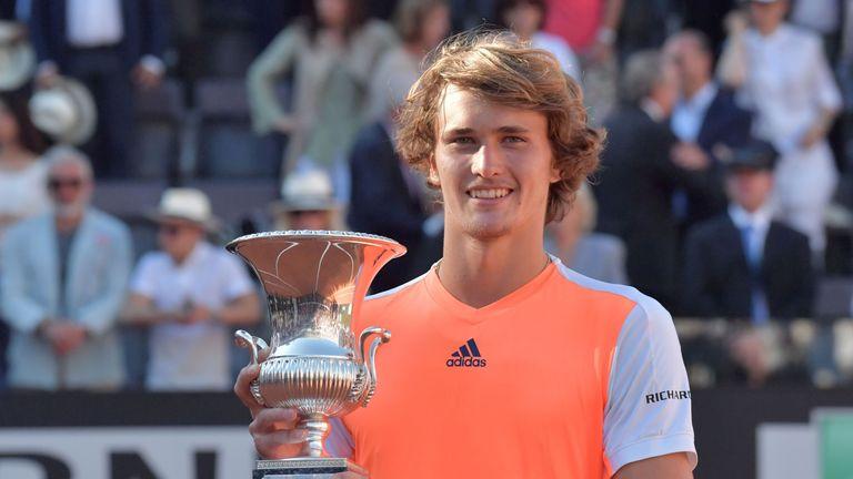 Alexander Zverev won the Rome Masters with victory over Novak Djokovic