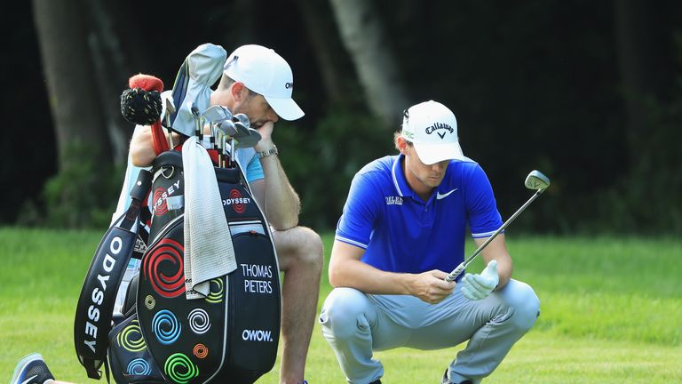 Thomas Pieters is one of nine players on four under