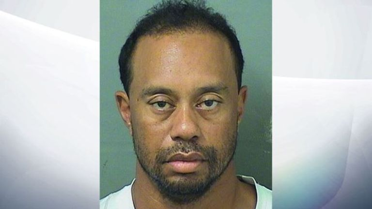 Tiger Woods was arrested in May after he was found asleep behind the wheel of his car