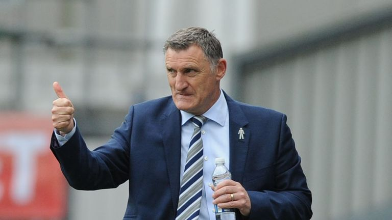Blackburn Rovers manager Tony Mowbray gestures during the Sky Bet Championship match at Ewood Park, Blackburn.