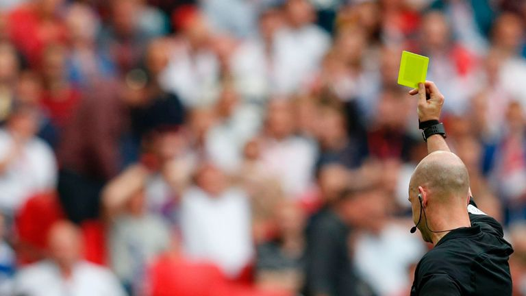 Victor Moses was sent off in the FA Cup final after a second yellow for simulation