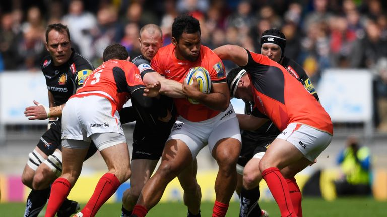 Billly Vunipola has made 189 carries for Saracens in his 13 Premiership appearances this season