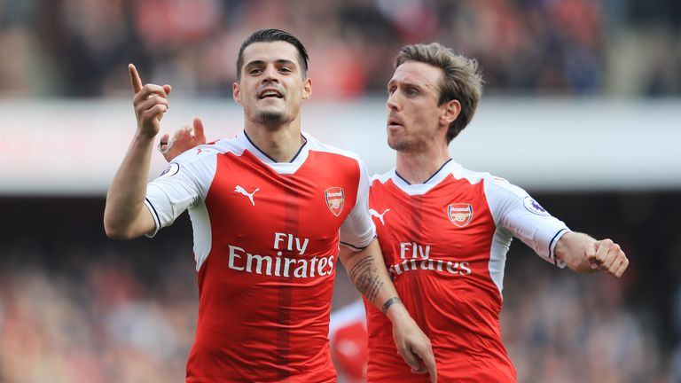 Arsenal's record spend on players included the signing of Granit Xhaka