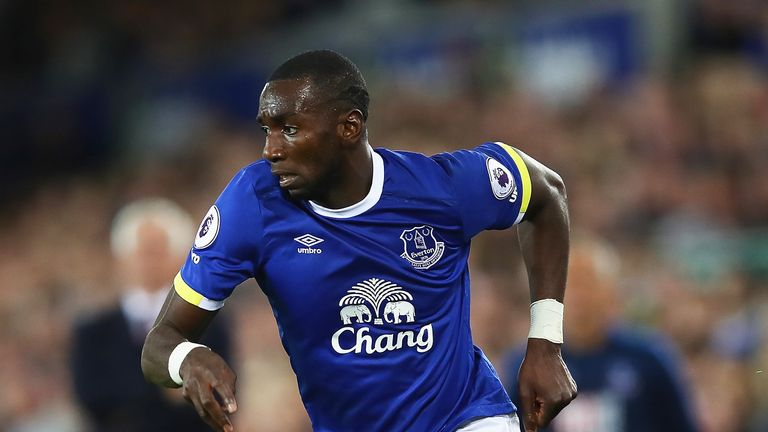 Yannick Bolasie during Everton's Premier League match with Crystal Palace at Goodison Park