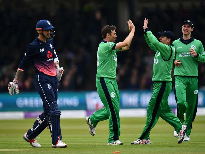 Ireland fared better after choosing to bowl first in the second match at Lord's
