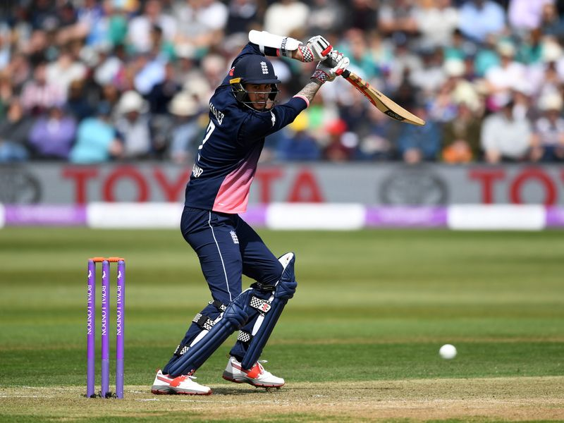 Alex Hales helped England race to a quick-fire seven-wicket victory