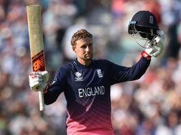 England's Joe Root celebrates reaching his century