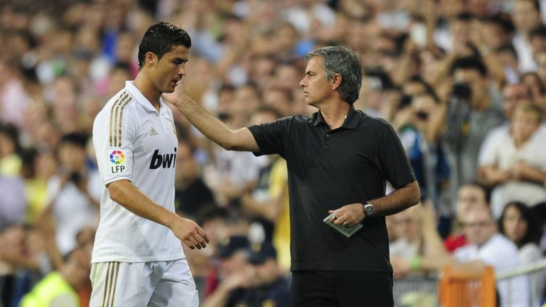 Former colleagues Cristiano Ronaldo and Jose Mourinho meet again on Tuesday