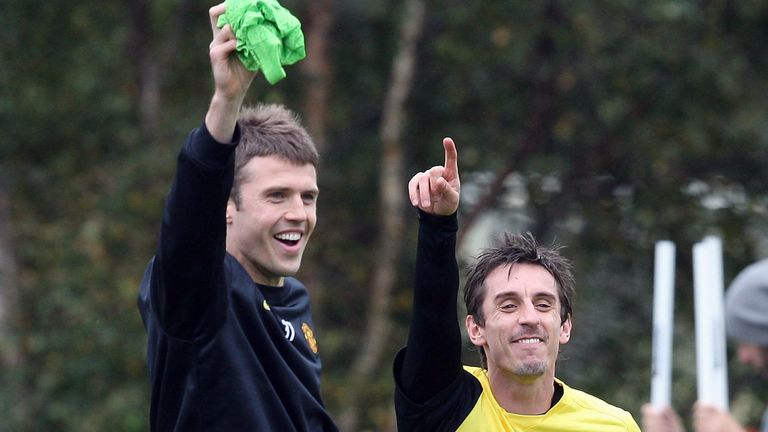 Gary Neville played alongside Michael Carrick at Manchester United for five years