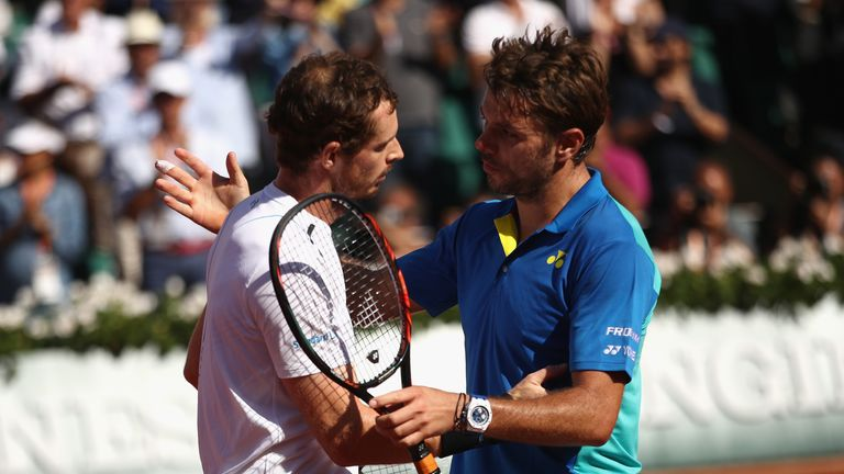 Murray faced Wawrinka in a gruelling encounter at Roland Garros in 2017