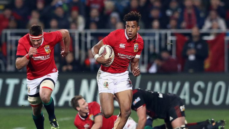 Anthony Watson topped the charts for metres made despite coming off the bench