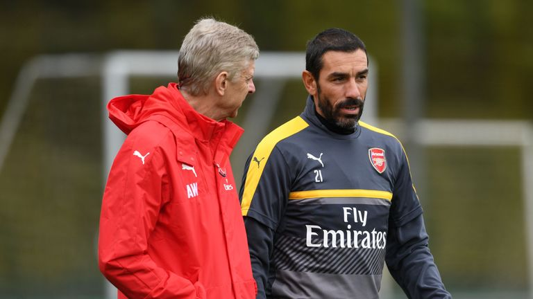 Robert Pires has been a regular fixture at Arsenal's training round in recent months