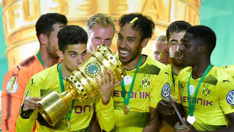 Aubameyang helped Dortmund win the DFB-Pokal Cup last season