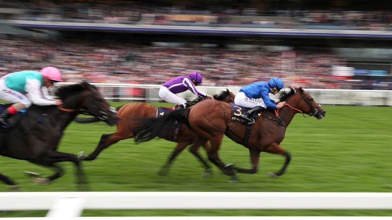 Benbatl coming home to win the Hampton Court Stakes