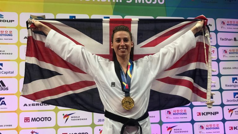 Bianca Walkden retained her taekwondo gold medal