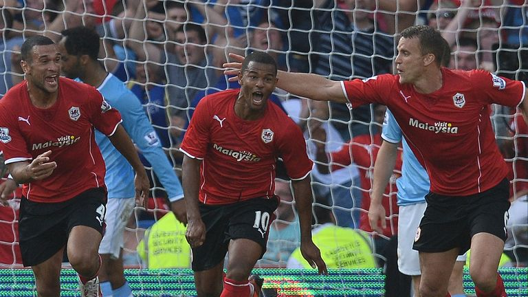 Fraizer Campbell's late brace helped the Bluebirds beat City