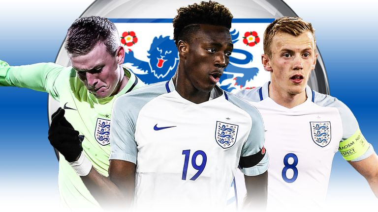 Abraham led the line for England Under-21s at the European Championships