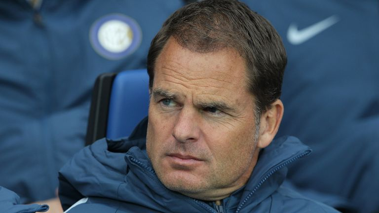 Frank de Boer has been out of work since he was sacked by Inter Milan