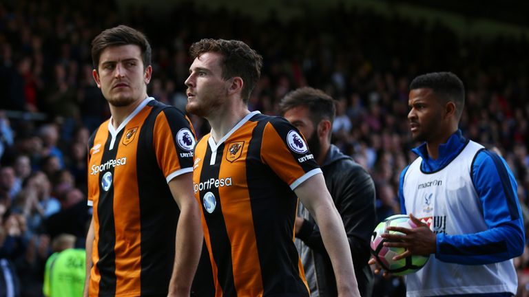 Hull have received bids for Harry Maguire (left) and Andrew Robertson