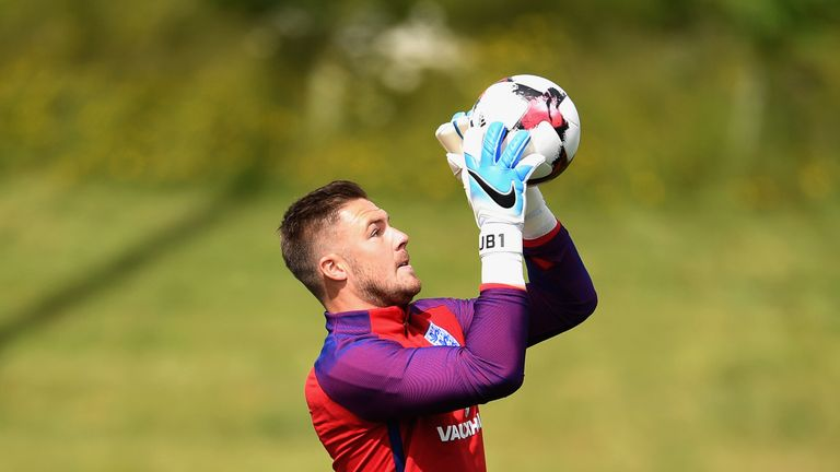 Jack Butland is battling for a starting spot in goal