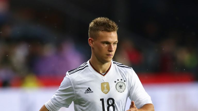 Joshua Kimmich of Germany controls the ball during the international friendly match between Denmark v Germany on June 6, 2017