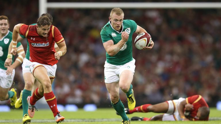 Keith Earls scored two of Ireland's nine tries