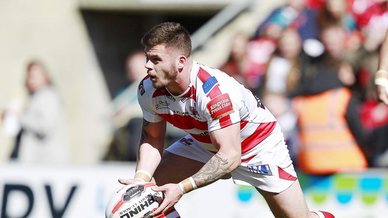 Leigh's Liam Hood scored two tries in the victory