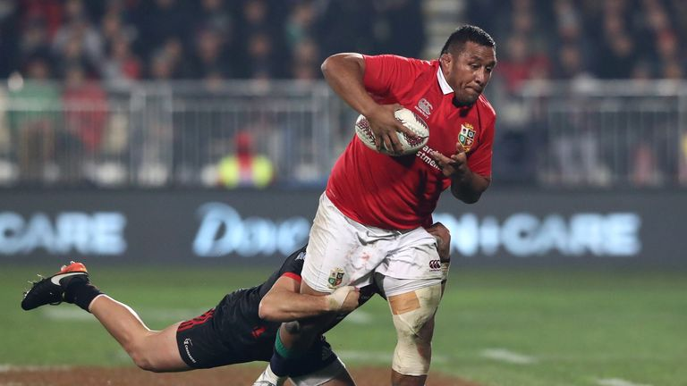 Mako Vunipola was the Lions top-tackler with 13