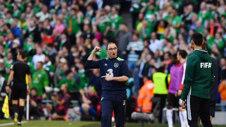 Martin O'Neill reacts to the late disallowed goal.