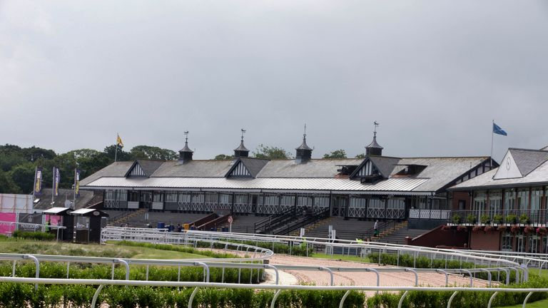 A general view of the racecourse during Stobo Castle Ladies Day at Musselburgh Racecourse, East Lothian.