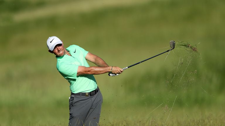 Rory McIlroy struggled to find the fairways on day one at Erin Hills
