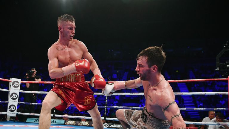 Burnett twice sent Lee Haskins to the canvas in Belfast