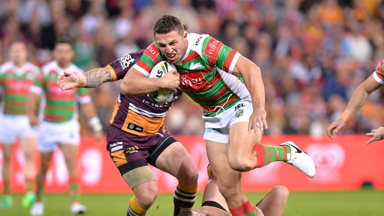 Sam Burgess looks set to remain at the Rabbitohs until at least the end of 2019