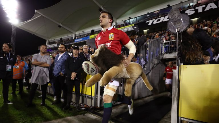 Warburton returned from injury for the Lions in Dunedin