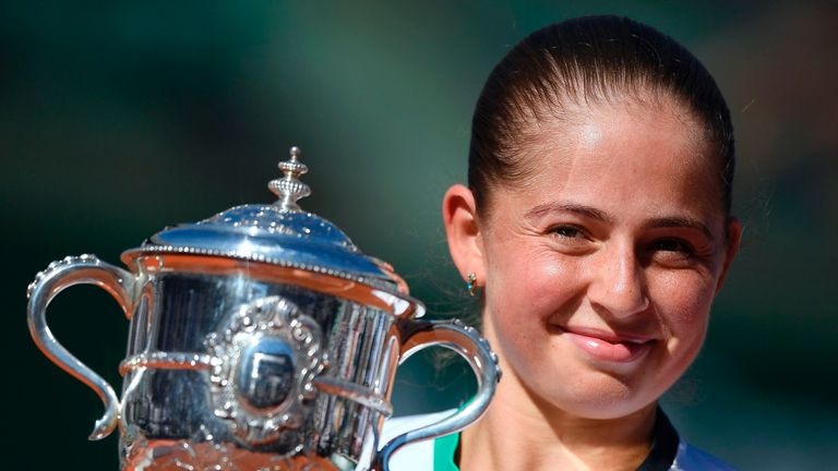 Jelena Ostapenko saw off the challenge of Halep to win the French Open