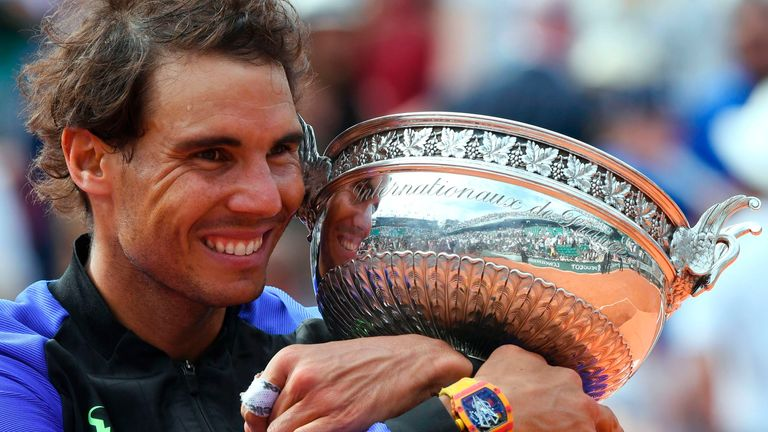Rafael Nadal stormed to a 10th French Open crown at Roland Garros