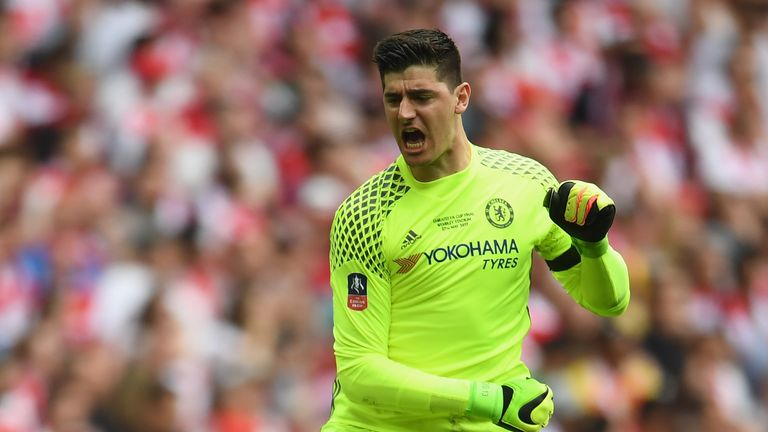 Thibaut Courtois impressively denied Fernandinho during Chelsea's 1-0 home defeat by Manchester City