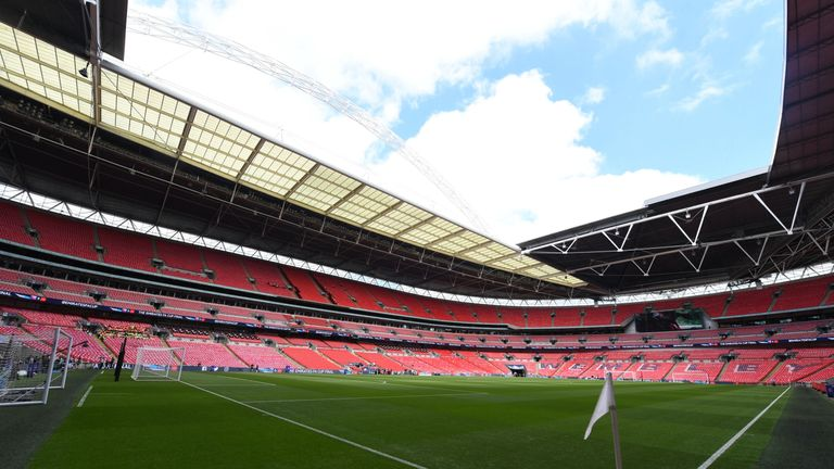 The Wembley pitch is often referred to as a big playing area - but it will be the same size as a standard Premier League pitch this season