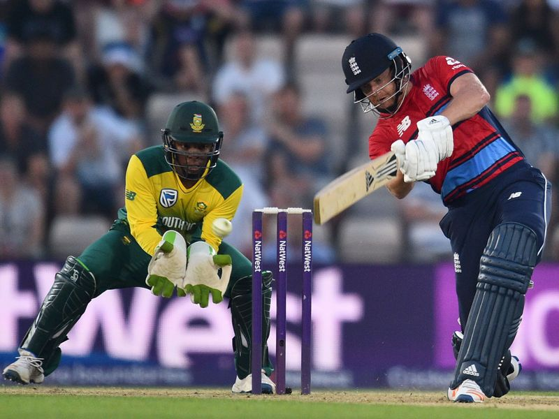 Jonny Bairstow struck 60 not out to guide England home in the first game of the series
