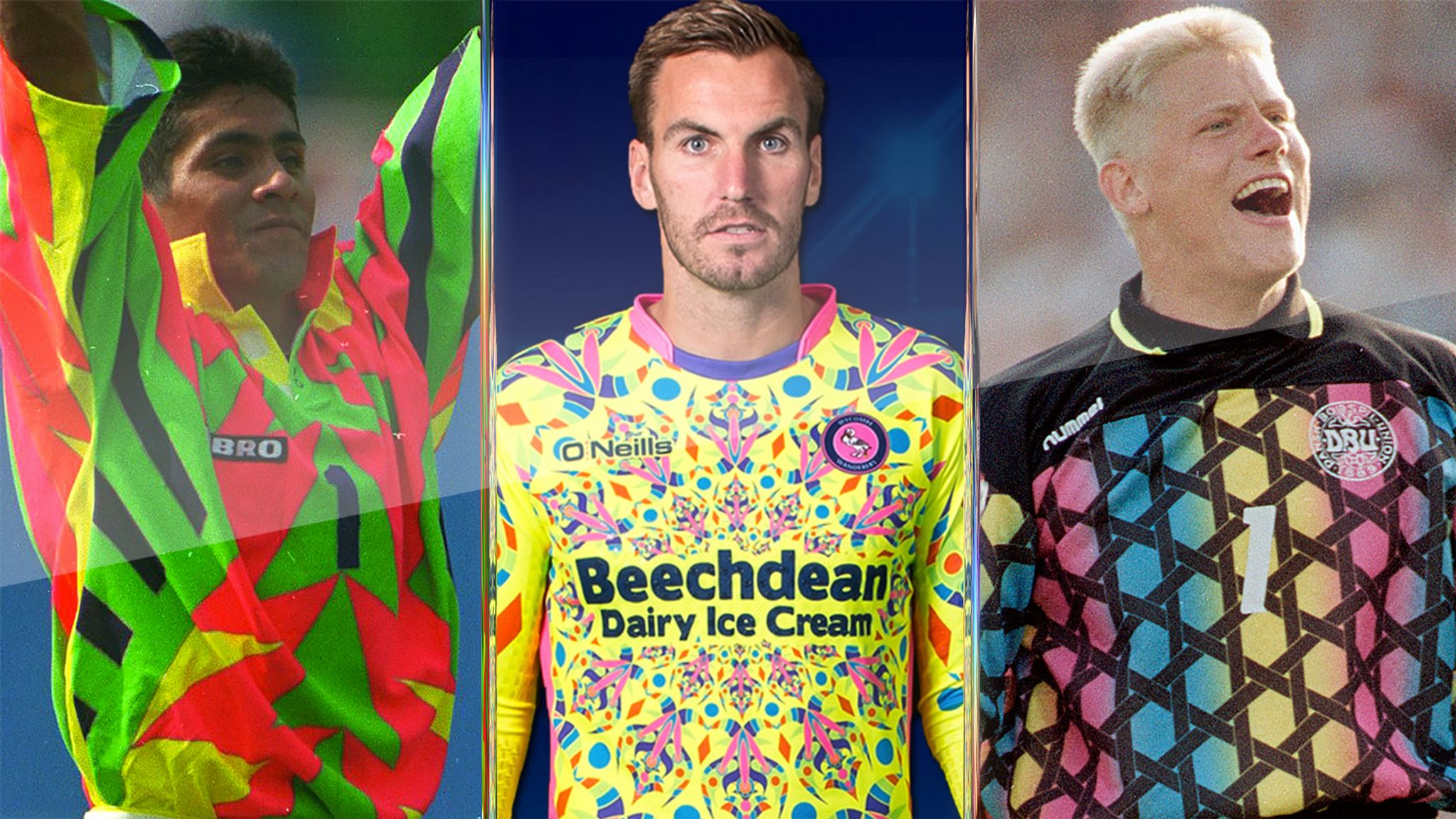 Poll Peter Schmeichel Jorge Campos How Does Wycombe S Shocking Goalkeeper Kit Compare Football News Sky Sports