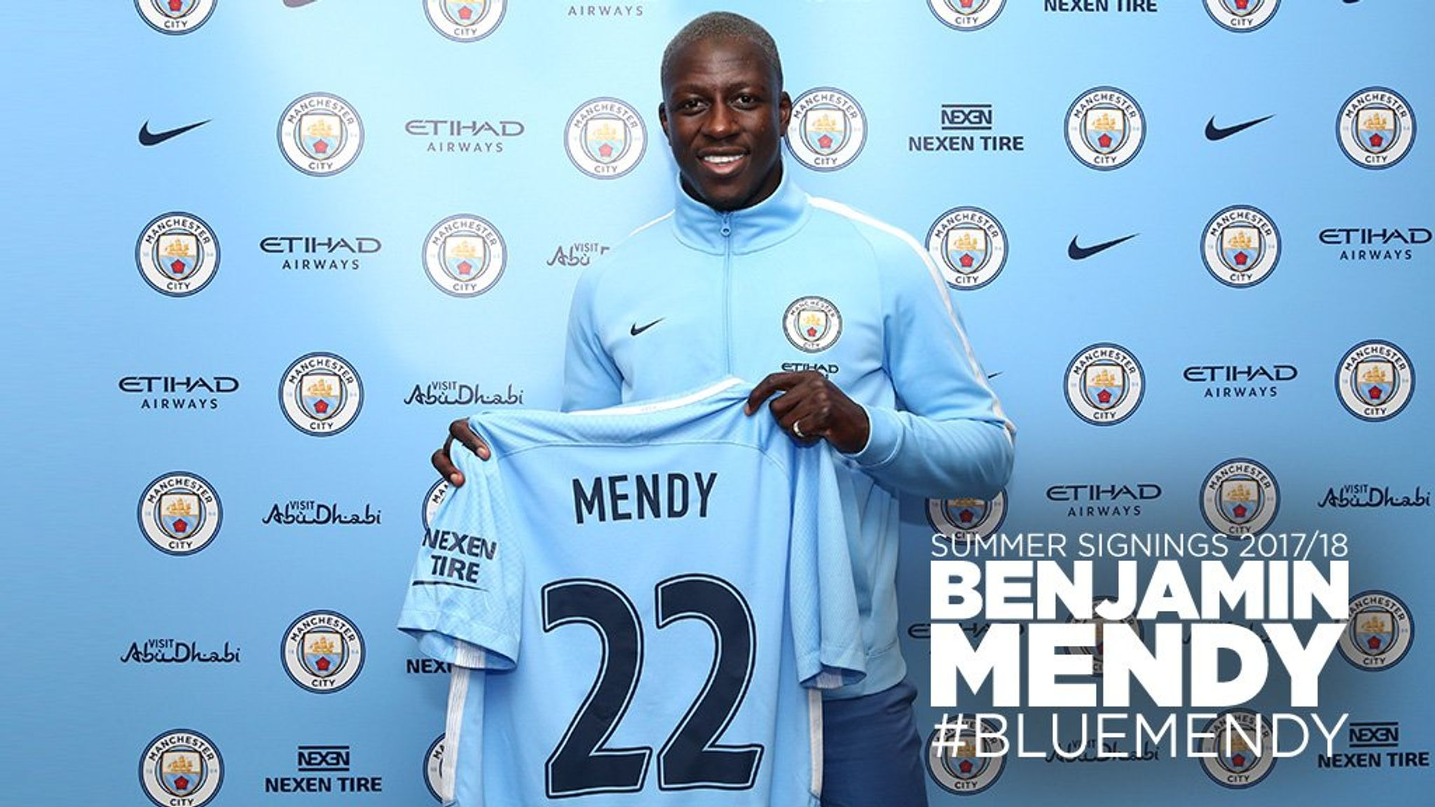 Manchester City announce £49.2m signing of Benjamin Mendy ...